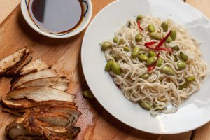 Teriyaki Chicken Breast & Edamame with Noodles